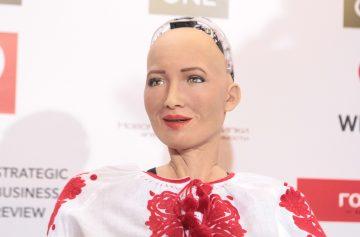 робот софия, киев, олером, улыбка