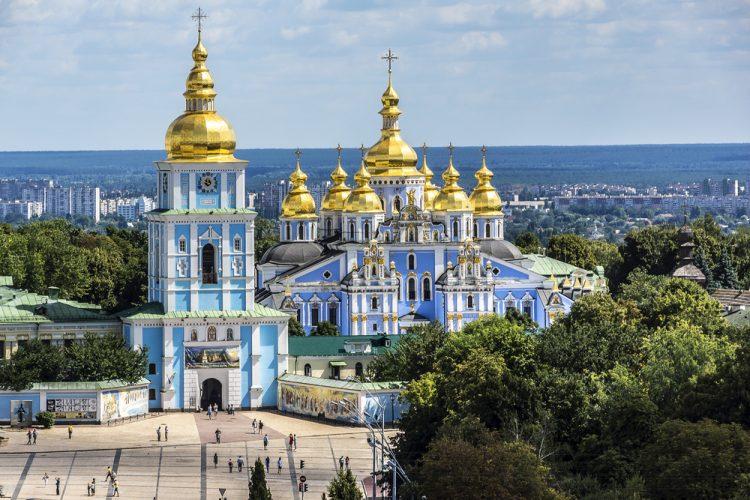 Михайловский Златоверхий собор в Киеве, панорама