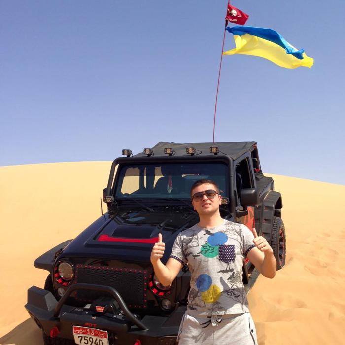 Украинцы в Эмиратах, ПМЖ в ОАЭ, пустыня, джип-сафари