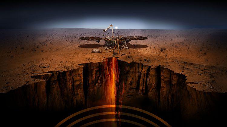 Марс, InSight, графика