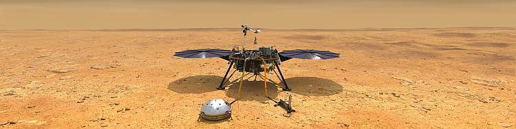 Марс, InSight на Красной планете