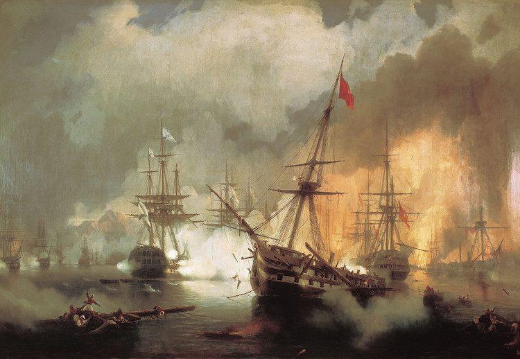 Лазарев, Азов, корабль, Наваринское сражение