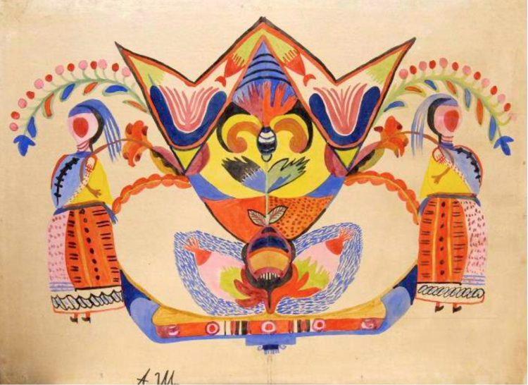 художница, Декоративное панно, Анна Собачко-Шостак, живопись, Украина, картины,