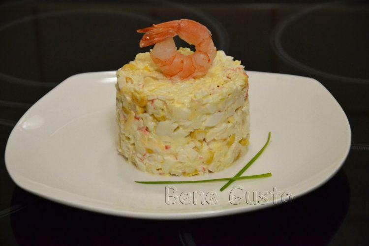 рецепт, салат, крабовые палочки