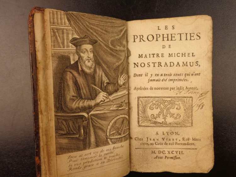 Нострадамус, биография, Пророчества , книга