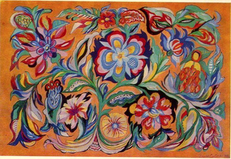 художница, Корень и цветы, Анна Собачко-Шостак, живопись, Украина, картины,