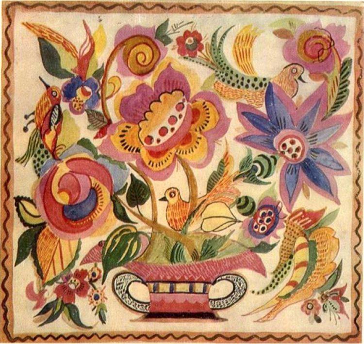 художница, Цветы в корзинке, Анна Собачко-Шостак, живопись, Украина, картины,