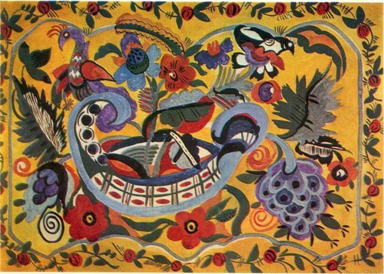 художница, Птицы на кораблике, Анна Собачко-Шостак, живопись, Украина, картины,