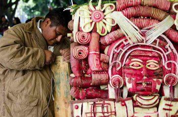 фишки дня, праздник редиса Оахака Мексика