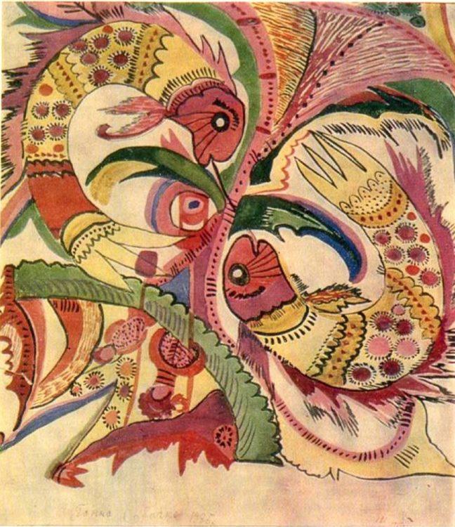 художница, Рыбы, Анна Собачко-Шостак, живопись, Украина, картины,