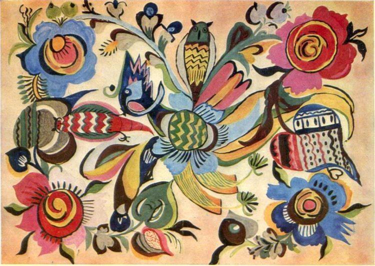 художница, Совы среди цветов, Анна Собачко-Шостак, живопись, Украина, картины,