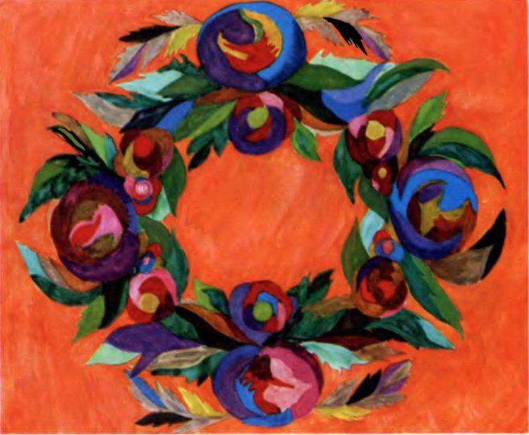 художница, Украинский венок, Анна Собачко-Шостак, живопись, Украина, картины,