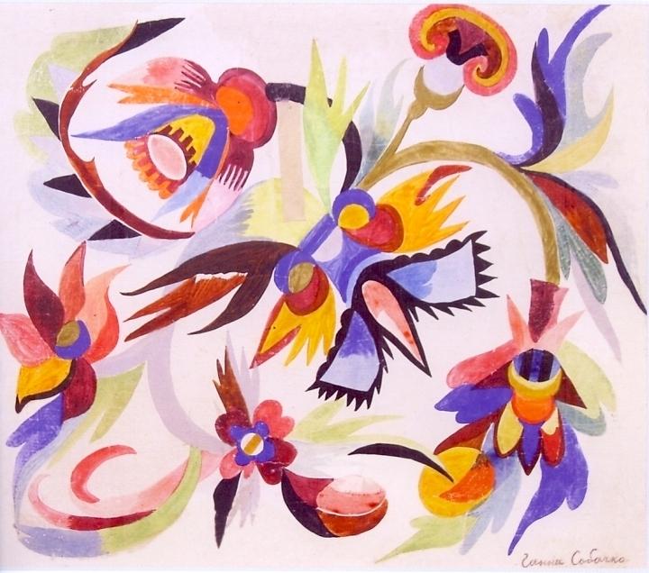 художница, Вихрь цветов, Анна Собачко-Шостак, живопись, Украина, картины,