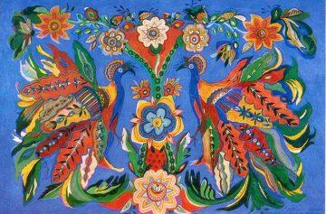 художница, Жар-птицы 1964, Анна Собачко-Шостак, живопись, Украина, картины,