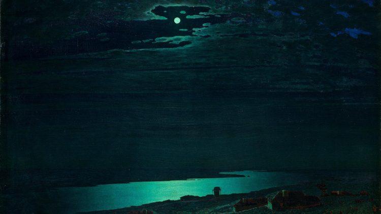 Куинджи, картины, Лунная ночь на Днепре