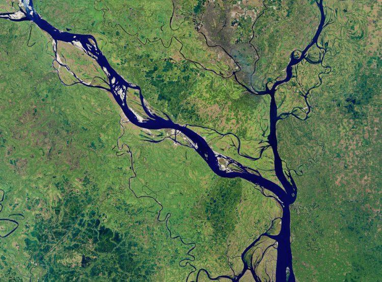 NASA, фото,Падма, река, Бангладеш, природа