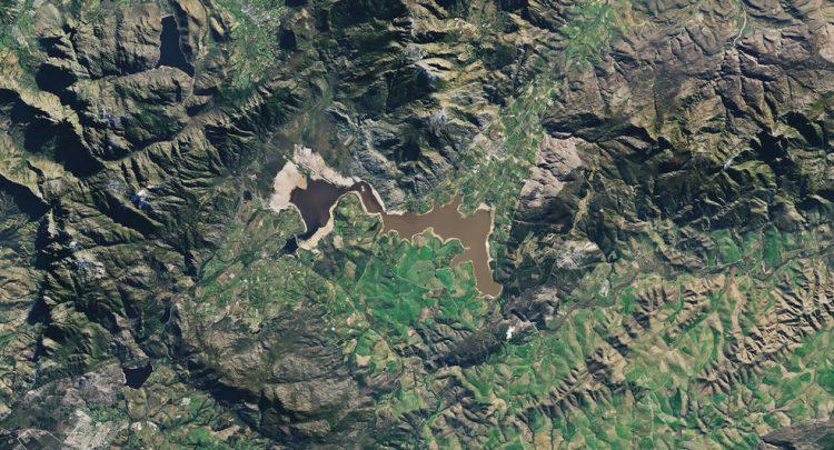 NASA, фото,Сивотерсклуф, Южная Африка, водохранилище, горы