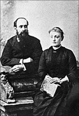 Панас Мирный с женой Александрой