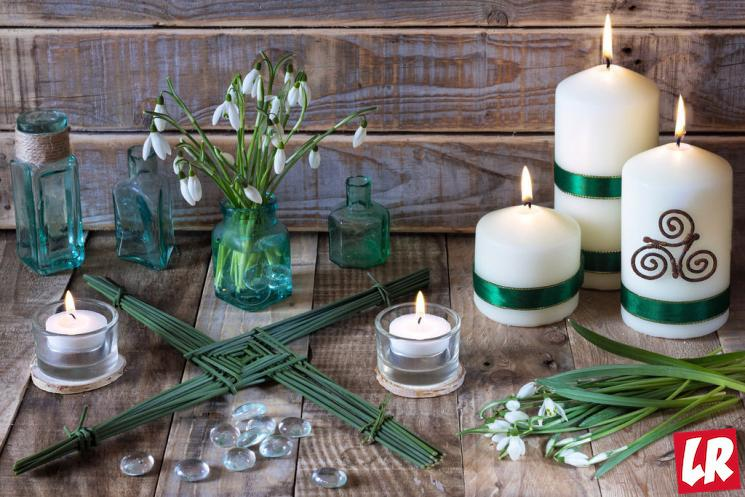 фишки дня - 1 февраля, День святой Бригитты Ирландия, крест святой Бригитты