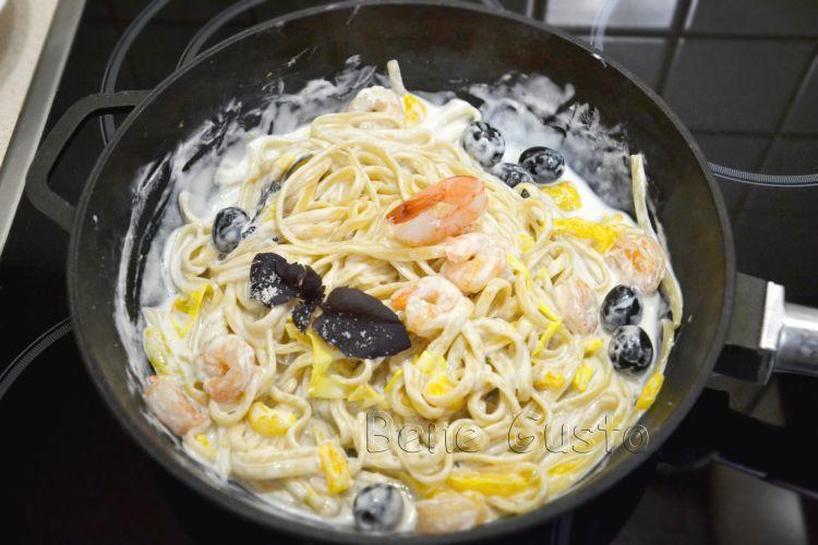 паста, креветки, рецепт, еда