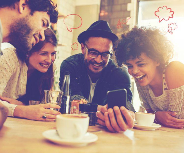 сообщество в Viber, чат, люди, общение, юмор, радость, смех, соцсети