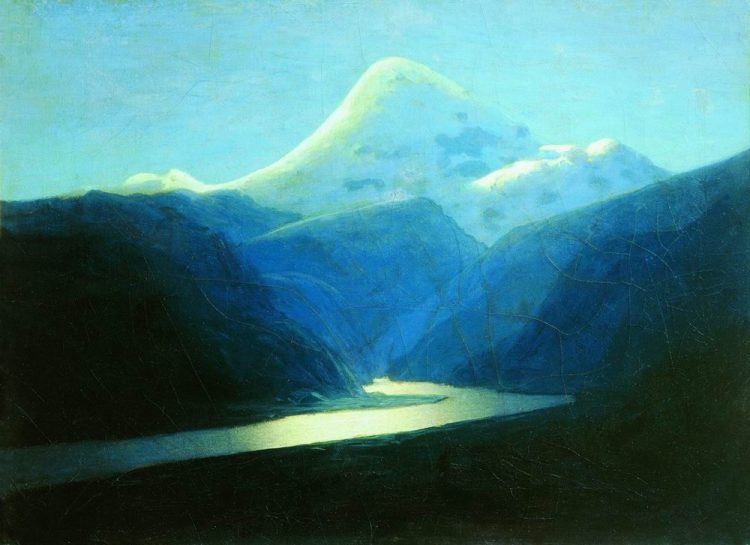 Куинджи, картины, Вечерний Эльбрус