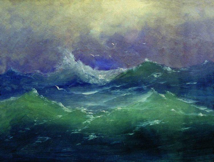 Куинджи, картины, Волны