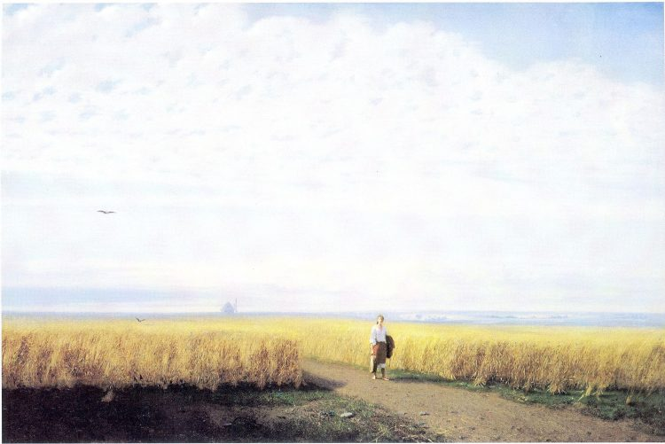 Куинджи, картины, Степь. Нива