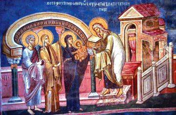 Сретение, икона сретения, праздник Сретения