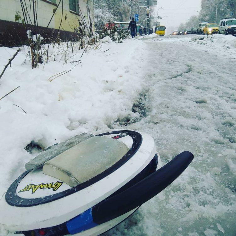 моноколесо, зима