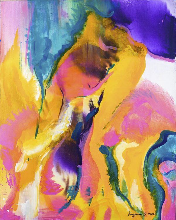 река жизни, ООН, украина, выставка, художница, нью-йорк, картина