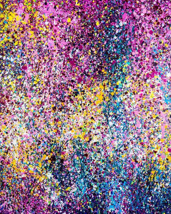 Ольга Кондрацкая, река жизни, выставка, Нью-Йорк, ООН, украинская художница, искусство, точки