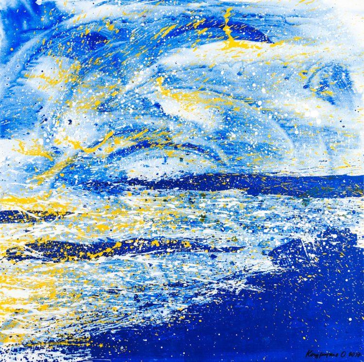 Ольга Кондрацкая, река жизни, выставка, Нью-Йорк, ООН, украинская художница, искусство, арт