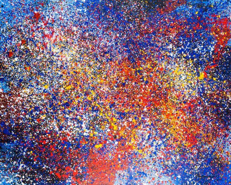 Ольга Кондрацкая, река жизни, выставка, Нью-Йорк, ООН, украинская художница, искусство, фейерверк