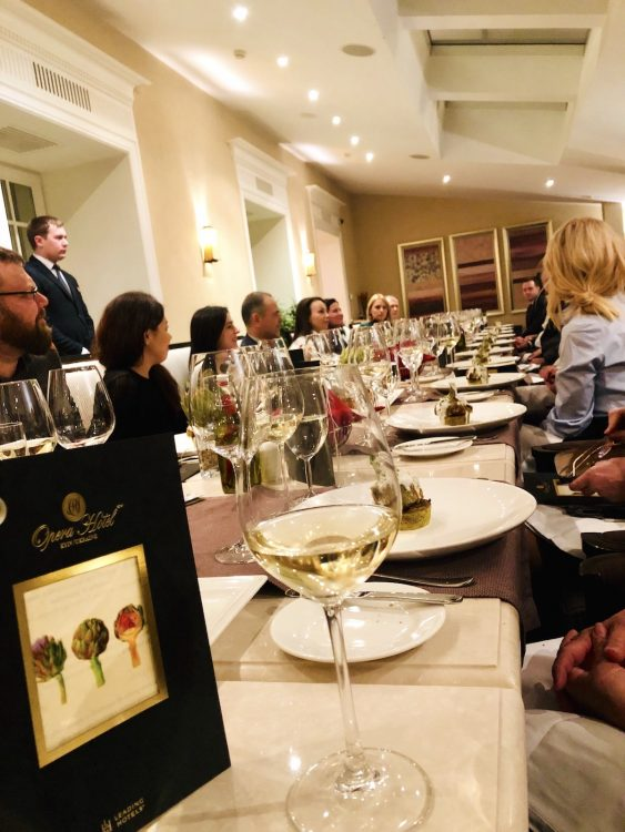 ужин, ресторан, артишок, фестиваль сицилийской кухни, отель опера, киев