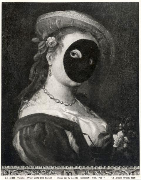 Венецианский карнавал, маска, моретта