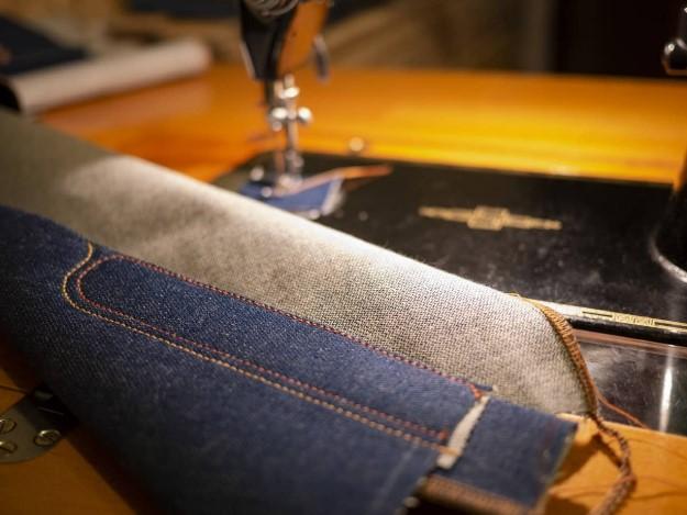 джинсы, швея, строчка