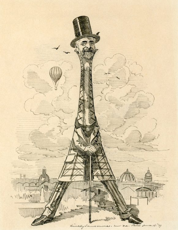 Эйфелева башня, карикатура
