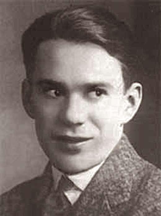 Юрий Олеша, портрет, юный Олеша