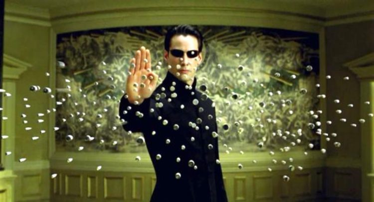 матрица, кадр из фильма, пули