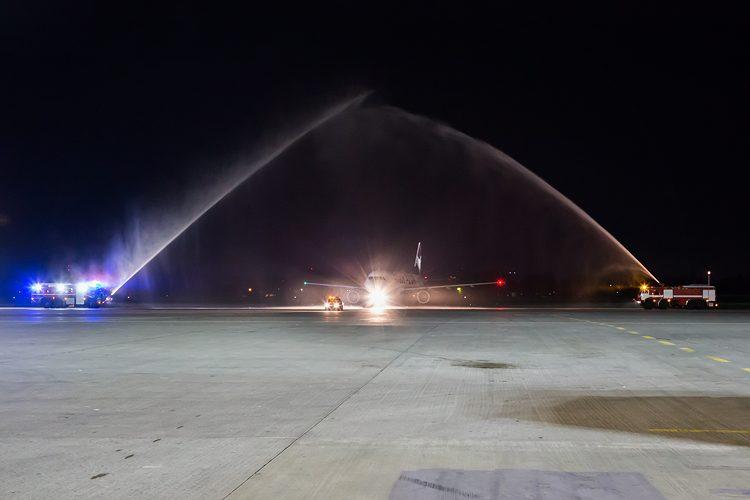 водяная арка, самолет