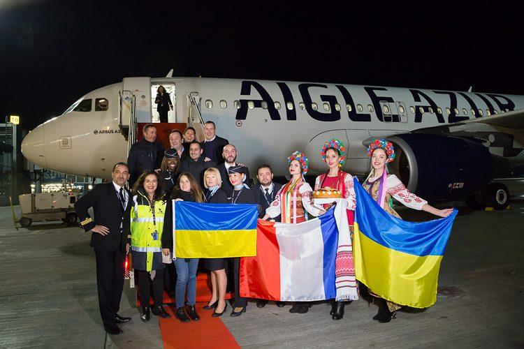 инаугурационный рейс, авиакомпания Aigle Azur, купить билеты в Париж из Киева