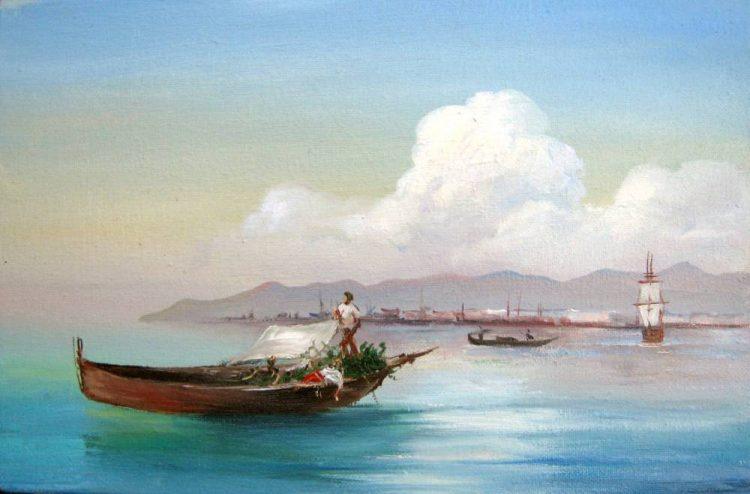 Венеция со стороны Лидо, Айвазовский, картина, Мария Тальони