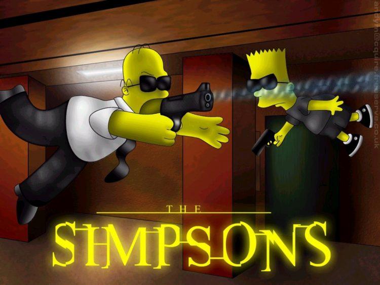 Симпсоны, Матрица, пули