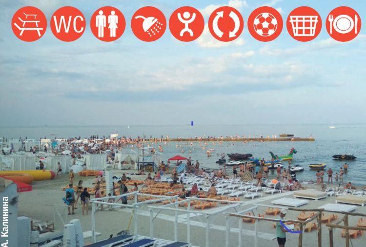 пляж, Чайка, спорт, Черное море