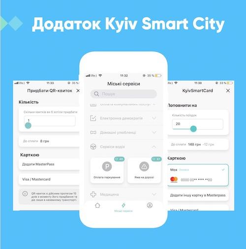 киев смарт сити, мобильное приложение