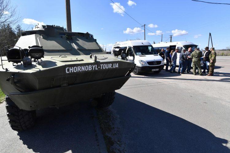 Чернобыль, ЧАЭС, туризм, танк