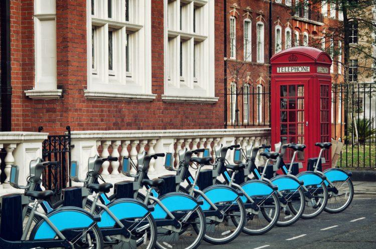 прокат велосипедов, Лондон