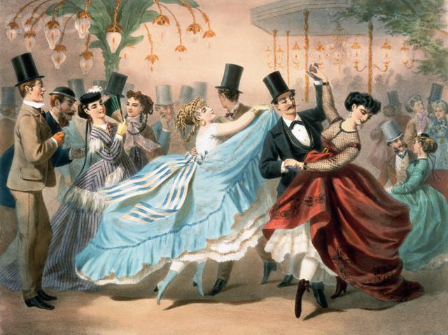 контрданс, танец, де траси, картина, искусство