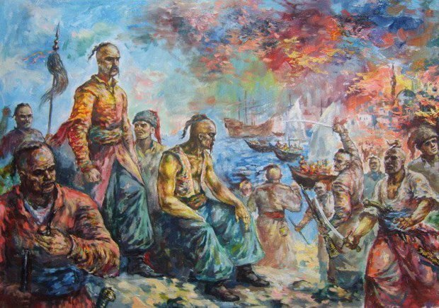 Азов, взятие Азова, крепость, война, Украина, казаки, Запорожская Сечь, битва, картина